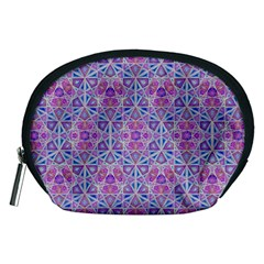 Star Tetrahedron Hand Drawing Pattern Purple Accessory Pouches (medium)  by Cveti