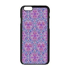 Star Tetrahedron Hand Drawing Pattern Purple Apple Iphone 6/6s Black Enamel Case by Cveti