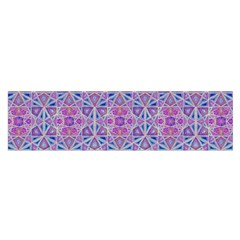 Star Tetrahedron Hand Drawing Pattern Purple Satin Scarf (oblong) by Cveti