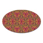 Star Tetrahedron Pattern Red Oval Magnet Front