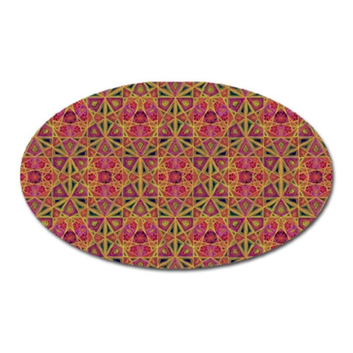 Star Tetrahedron Pattern Red Oval Magnet