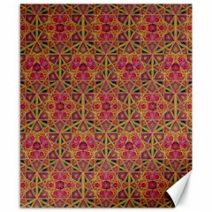 Star Tetrahedron Pattern Red Canvas 8  X 10  by Cveti
