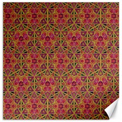 Star Tetrahedron Pattern Red Canvas 16  X 16   by Cveti