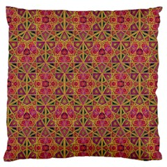 Star Tetrahedron Pattern Red Large Cushion Case (two Sides) by Cveti