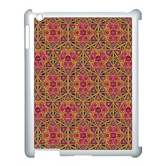 Star Tetrahedron Pattern Red Apple Ipad 3/4 Case (white) by Cveti