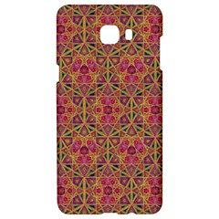 Star Tetrahedron Pattern Red Samsung C9 Pro Hardshell Case  by Cveti