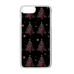 Christmas Tree   Pattern Apple Iphone 7 Plus Seamless Case (white)