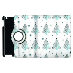 Christmas Tree   Pattern Apple Ipad 2 Flip 360 Case by Valentinaart