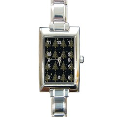 Christmas Tree   Pattern Rectangle Italian Charm Watch