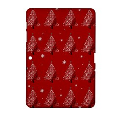 Christmas Tree   Pattern Samsung Galaxy Tab 2 (10 1 ) P5100 Hardshell Case  by Valentinaart