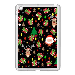 Santa And Rudolph Pattern Apple Ipad Mini Case (white) by Valentinaart
