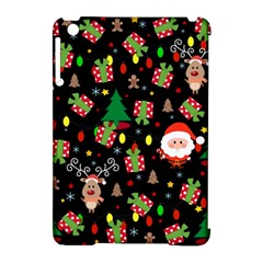 Santa And Rudolph Pattern Apple Ipad Mini Hardshell Case (compatible With Smart Cover)