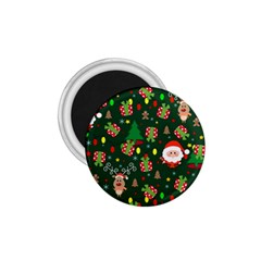Santa And Rudolph Pattern 1 75  Magnets by Valentinaart