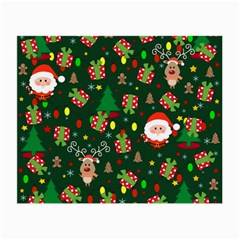 Santa And Rudolph Pattern Small Glasses Cloth (2 Side)