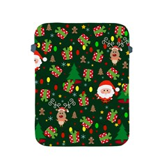 Santa And Rudolph Pattern Apple Ipad 2/3/4 Protective Soft Cases by Valentinaart