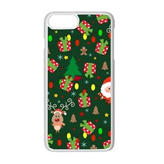 Santa And Rudolph Pattern Apple Iphone 8 Plus Seamless Case (white) by Valentinaart