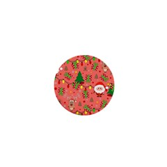 Santa And Rudolph Pattern 1  Mini Buttons by Valentinaart