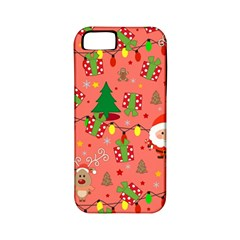 Santa And Rudolph Pattern Apple Iphone 5 Classic Hardshell Case (pc+silicone)