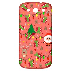 Santa And Rudolph Pattern Samsung Galaxy S3 S Iii Classic Hardshell Back Case by Valentinaart