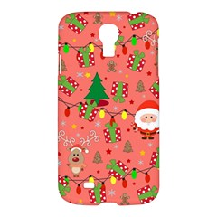 Santa And Rudolph Pattern Samsung Galaxy S4 I9500/i9505 Hardshell Case