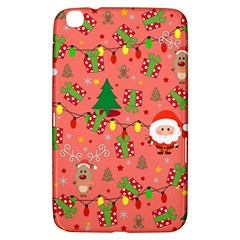 Santa And Rudolph Pattern Samsung Galaxy Tab 3 (8 ) T3100 Hardshell Case  by Valentinaart