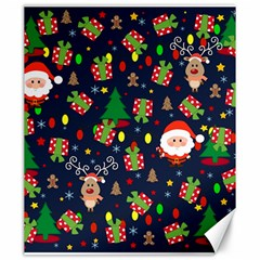 Santa And Rudolph Pattern Canvas 20  X 24   by Valentinaart