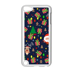 Santa And Rudolph Pattern Apple Ipod Touch 5 Case (white) by Valentinaart