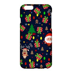 Santa And Rudolph Pattern Apple Iphone 6 Plus/6s Plus Hardshell Case by Valentinaart