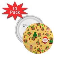 Santa And Rudolph Pattern 1 75  Buttons (10 Pack) by Valentinaart