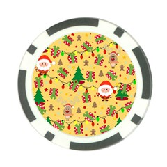 Santa And Rudolph Pattern Poker Chip Card Guard by Valentinaart