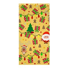 Santa And Rudolph Pattern Shower Curtain 36  X 72  (stall)  by Valentinaart
