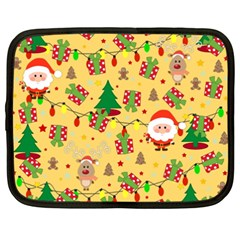 Santa And Rudolph Pattern Netbook Case (xxl)