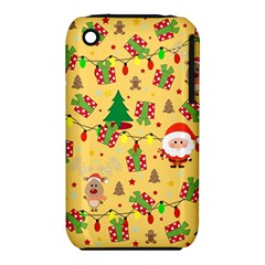 Santa And Rudolph Pattern Iphone 3s/3gs by Valentinaart