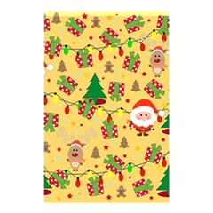 Santa And Rudolph Pattern Shower Curtain 48  X 72  (small)  by Valentinaart