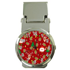 Santa And Rudolph Pattern Money Clip Watches by Valentinaart