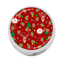 Santa And Rudolph Pattern 4 Port Usb Hub (two Sides)