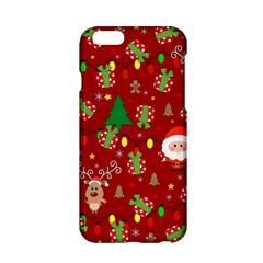 Santa And Rudolph Pattern Apple Iphone 6/6s Hardshell Case by Valentinaart