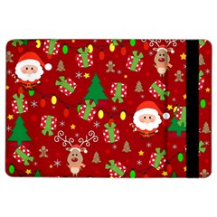 Santa And Rudolph Pattern Ipad Air 2 Flip by Valentinaart