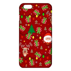 Santa And Rudolph Pattern Iphone 6 Plus/6s Plus Tpu Case by Valentinaart