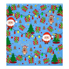 Santa And Rudolph Pattern Shower Curtain 66  X 72  (large)  by Valentinaart