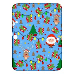 Santa And Rudolph Pattern Samsung Galaxy Tab 3 (10 1 ) P5200 Hardshell Case