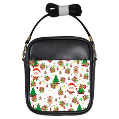 Santa And Rudolph Pattern Girls Sling Bags