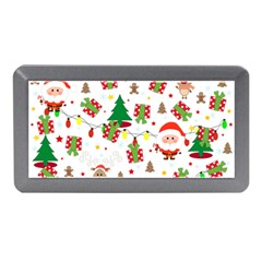 Santa And Rudolph Pattern Memory Card Reader (mini) by Valentinaart
