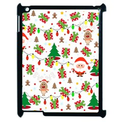 Santa And Rudolph Pattern Apple Ipad 2 Case (black) by Valentinaart