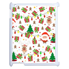 Santa And Rudolph Pattern Apple Ipad 2 Case (white)