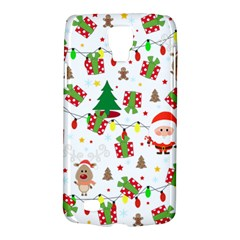 Santa And Rudolph Pattern Galaxy S4 Active by Valentinaart