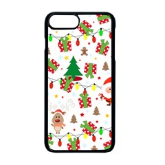 Santa And Rudolph Pattern Apple Iphone 8 Plus Seamless Case (black)
