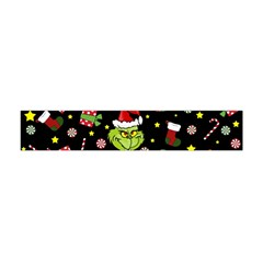 Grinch Pattern Flano Scarf (mini) by Valentinaart