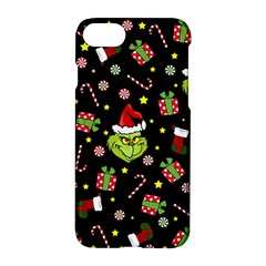 Grinch Pattern Apple Iphone 7 Hardshell Case by Valentinaart