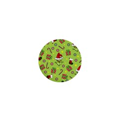 Grinch Pattern 1  Mini Magnets by Valentinaart